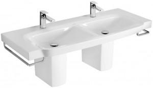 Раковина для ванной подвесная двойная Villeroy&Boch коллекция Sentique белая 5126D001
