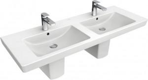 Раковина для ванной подвесная двойная Villeroy & Boch коллекция Subway 2.0 белый 7175D001