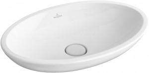 Раковина для ванной накладная овальная Villeroy & Boch Loop & Friends 58.5х38х15 белая 51510001