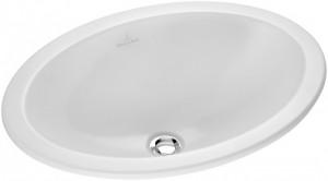 Раковина для ванной встраиваемая овальная Villeroy & Boch Loop & Friends 66х47х20.5 белая 61553001