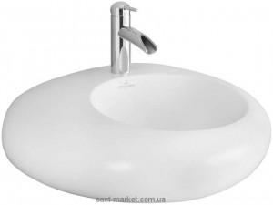 Раковина для ванной накладная Villeroy & Boch коллекция Pure Stone белая 517261R1
