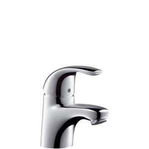 Смеситель для раковины однорычажный с донным клапаном Hansgrohe коллекция Focus E хром 31700000