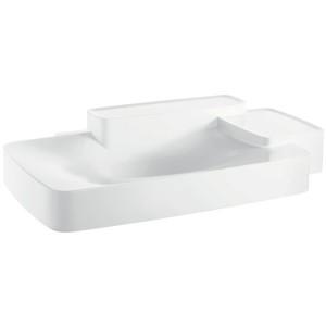 Раковина для ванной встраиваемая с двумя полками Hansgrohe коллекция Axor Bouroullec белая 19944000
