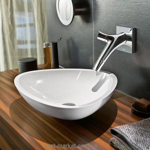 Раковина для ванной накладная Hansgrohe коллекция Axor Massaud белая 42305000