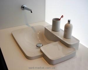 Раковина для ванной встраиваемая с двумя полками Hansgrohe коллекция Axor Bouroullec белая 19943000