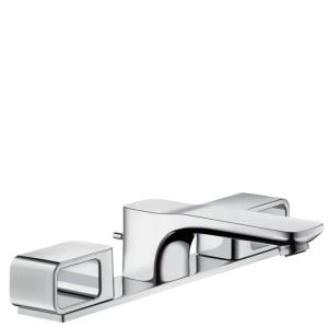Смеситель для раковины двухрычажный с донным клапаном Hansgrohe Axor Urquiola хром 11040000
