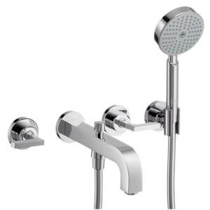 Смеситель двухвентильный для ванны с душем Hansgrohe коллекция Citterio хром 39448000