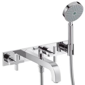 Смеситель двухвентильный для ванны с душем Hansgrohe коллекция Citterio хром 39441000