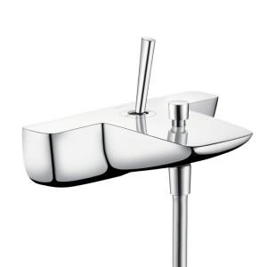 Смеситель с джойстиком для ванны с коротким изливом Hansgrohe коллекция PuraVida хром 15472000