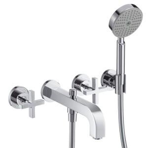 Смеситель двухвентильный для ванны с душем Hansgrohe коллекция Citterio хром 39447000