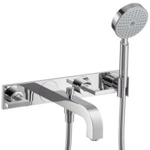 Смеситель двухвентильный для ванны с душем Hansgrohe коллекция Citterio хром 39442000