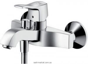 Смеситель однорычажный для ванны с коротким изливом Hansgrohe коллекция Metris Classic хром 31478000