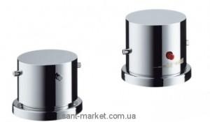 Смеситель с термостатом двухвентильный на борт ванны Hansgrohe коллекция Axor Starck хром 10480000