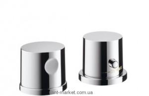 Смеситель с термостатом двухвентильный на борт ванны Hansgrohe коллекция Axor Uno хром 38480000