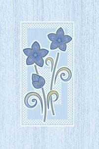 Golden Tile Б83351 МАРГАРИТА ГОЛУБОЙ декор 138332