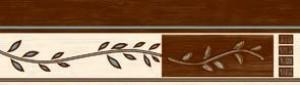 Golden Tile В77311 РОМИАТА КОРИЧНЕВЫЙ фриз 136167