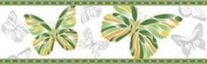 Golden Tile К14311 БАТТЕРФЛЯЙ ЗЕЛЕНЫЙ фриз 136557