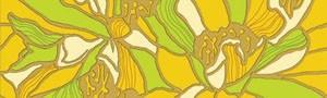 Golden Tile К74301 АПРЕЛЬ ЗЕЛЕНЫЙ декор 136563
