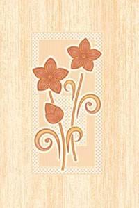 Golden Tile Б81351 МАРГАРИТА БЕЖЕВЫЙ декор 136549