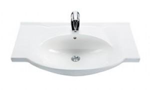 Раковина для ванной подвесная умывальник-столешница IDO коллекция Mosaik белая 1117601101