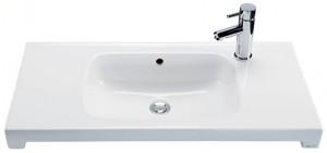 Раковина для ванной на тумбу умывальник-столешница IDO коллекция Seven D белая 1112101101