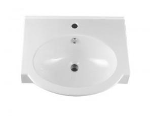 Раковина для ванной подвесная умывальник-столешница IDO коллекция Shape белая 1119901101