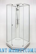 IDO Showerama 8-5 Душевая кабина 1000x1000 мм, профиль сереб-ый, проз.ст./узор.е стекло 4985117010