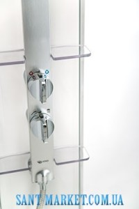 IDO Душевая панель белая с серебристой стойкой под душ для укороченной модели 4985018003