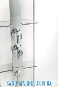 IDO Душевая панель белая с серебристой стойкой под душ 4985018001