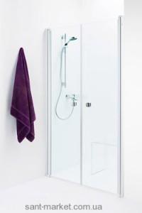 Душевая дверь в нишу IDO Showerama 8-0 стеклянная распашная 100х195 4980032100
