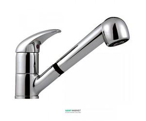 Смеситель для кухни с выдвижным душем Ferro Ancona однорычажный BAN8