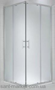 Душевая дверь в уголок Jika Cubito Pure Silvere стеклянная раздвижная 100х195 H2512430026681