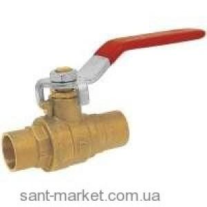 Ferro Шаровой кран для воды с ручкой под пайку 18мм KPL3