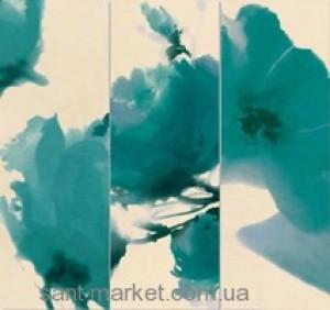Naxos Плитка Vanity 47165 FASCIA FLOWERS ACQUA декор 126100