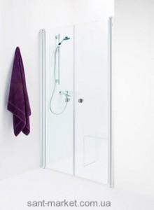 Душевая дверь в нишу IDO Showerama 8-0 стеклянная распашная 115х195 4980032115