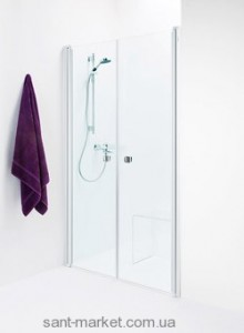 Душевая дверь в нишу IDO Showerama 8-0 стеклянная распашная 110х195 4980036110