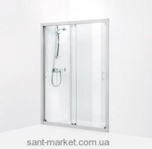 Душевая дверь в нишу IDO Showerama 7-1 стеклянная раздвижная 155х195 4971033155