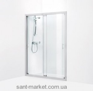 Душевая дверь в нишу IDO Showerama 7-1 стеклянная раздвижная 140х195 4971032140