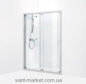 Душевая дверь в нишу IDO Showerama 7-1 стеклянная раздвижная 140х195 4971033140