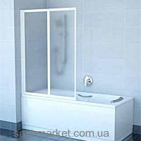 Ravak Штора д/ванны VS 2 105 Рейн, профиль сатин, пластик 796M0U0041