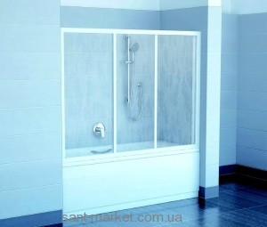 Ravak Штора д/ванны AVDP 3-120 Транспарент, профиль белый, стекло 40VG0102Z1