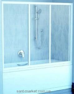 Ravak Штора д/ванны AVDP 3-120 Грейп, профиль белый, стекло 40VG0102ZG