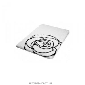 BISK РОЗА коврик для ванны бело-черный 02827