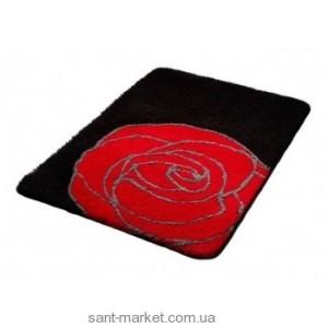 BISK РОЗА коврик для ванны черно-красный 02826