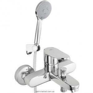Смеситель однорычажный для ванны с душем Rubineta коллекция Static хром A10A08