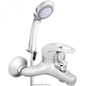 Смеситель однорычажный для ванны с душем Rubineta коллекция Prince сатин P10053