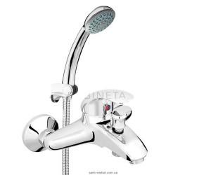Смеситель однорычажный для ванны с душем Rocersa коллекция Turbo хром T10004