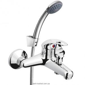 Смеситель однорычажный для ванны с душем Rubineta коллекция Yuta хром Y10К03
