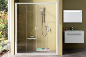 Душевая дверь в нишу RAVAK Rapier NRDP4 стеклянная раздвижная 130х190 0ONJ0100Z1
