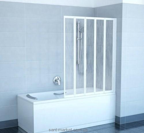 Ravak Штора д/ванны VS 5 Рейн, пласт. 794E010041